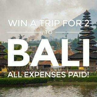 Win a FREE trip to Bali, Indonesia – All expenses paid holiday for two!