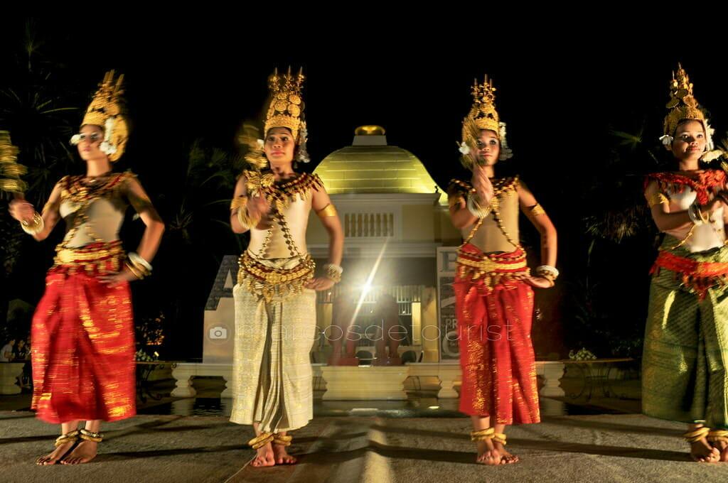 Apsara Dancers at Raffles D Angkor Hotel, Siem Reap, Cambodia