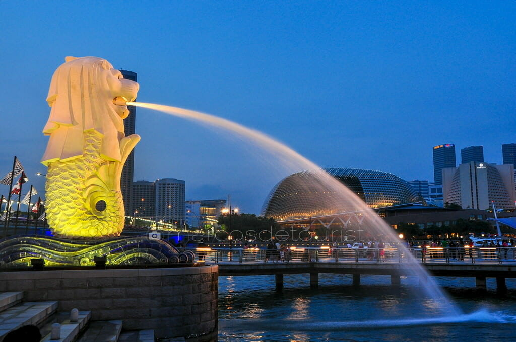 Merlion and Esplanade Building, Singapore