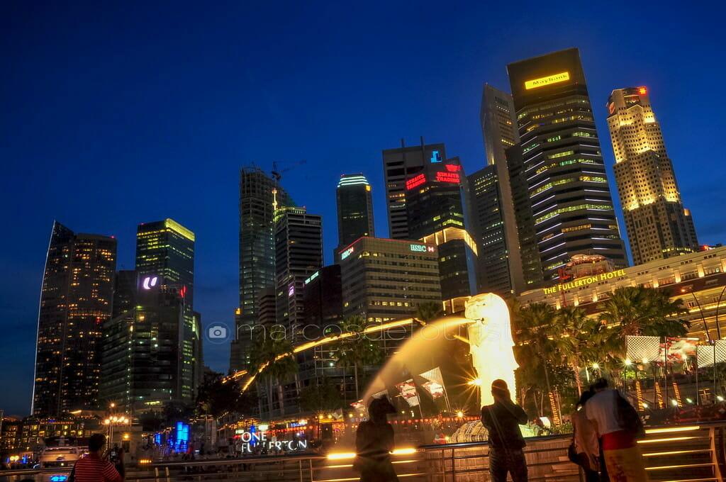 Merlion and Singapore Skyline, Singapore