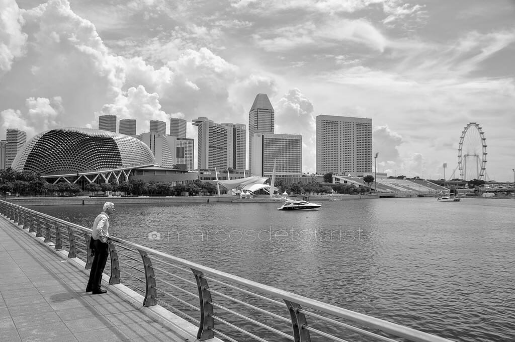 Esplanade Building and Singapore Skyline, Singapore