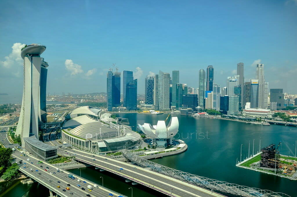 Singapore Skyline view from Singapore Flyer, Singapore