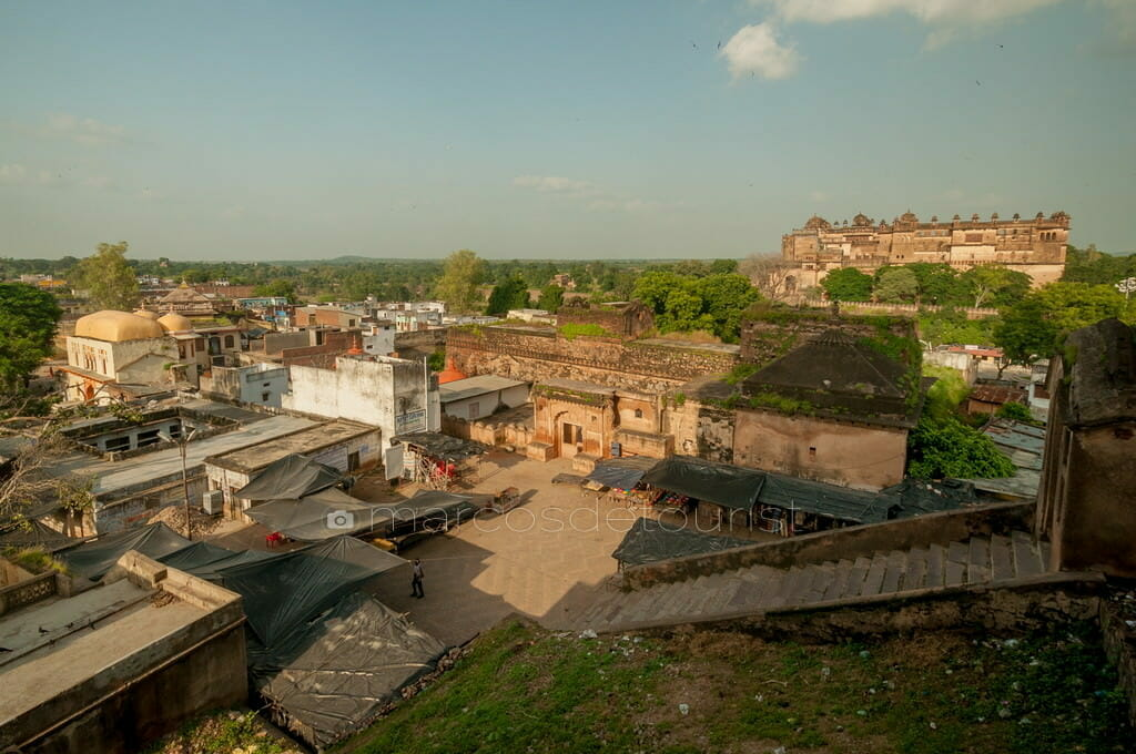 View from Chaturbhuj Temple, Orccha, Madhya Pradesh, India