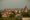 View of Orchha Fort and Town Center from Lakshmi Temple, Orchha,