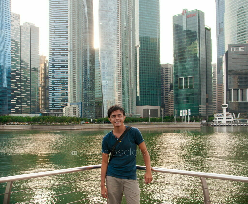 Singapore Skyscrapers viewed from Marina Bay, Singapore