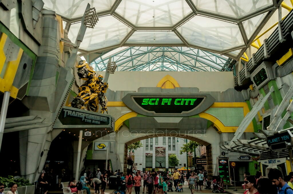 Sci Fi City, Universal Studios, Sentosa Island, Singapore, Singa