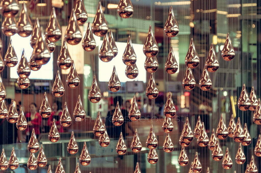 Kinetic Rain Sculpture, Terminal 1, Changi Airport, Singapore