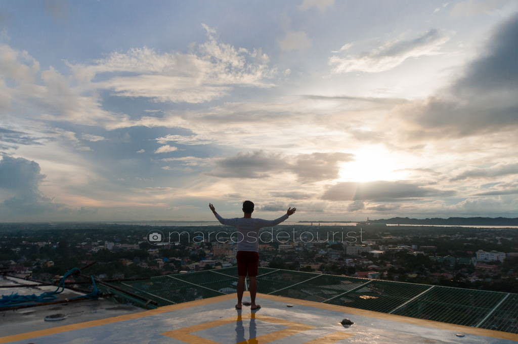 Sunrise view on the helipad of Injap Tower Hotel.
