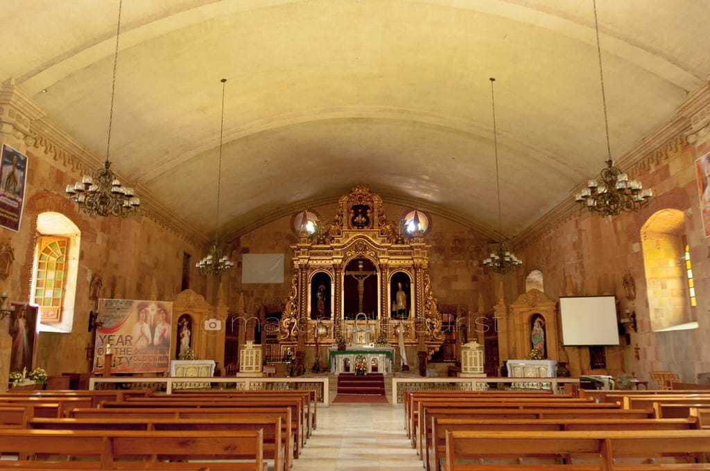 Altar and Interiors of Miagao Church.