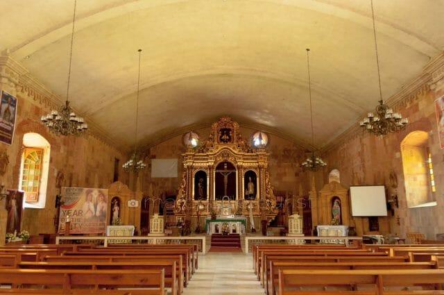 Altar and Interiors of Miagao Church.