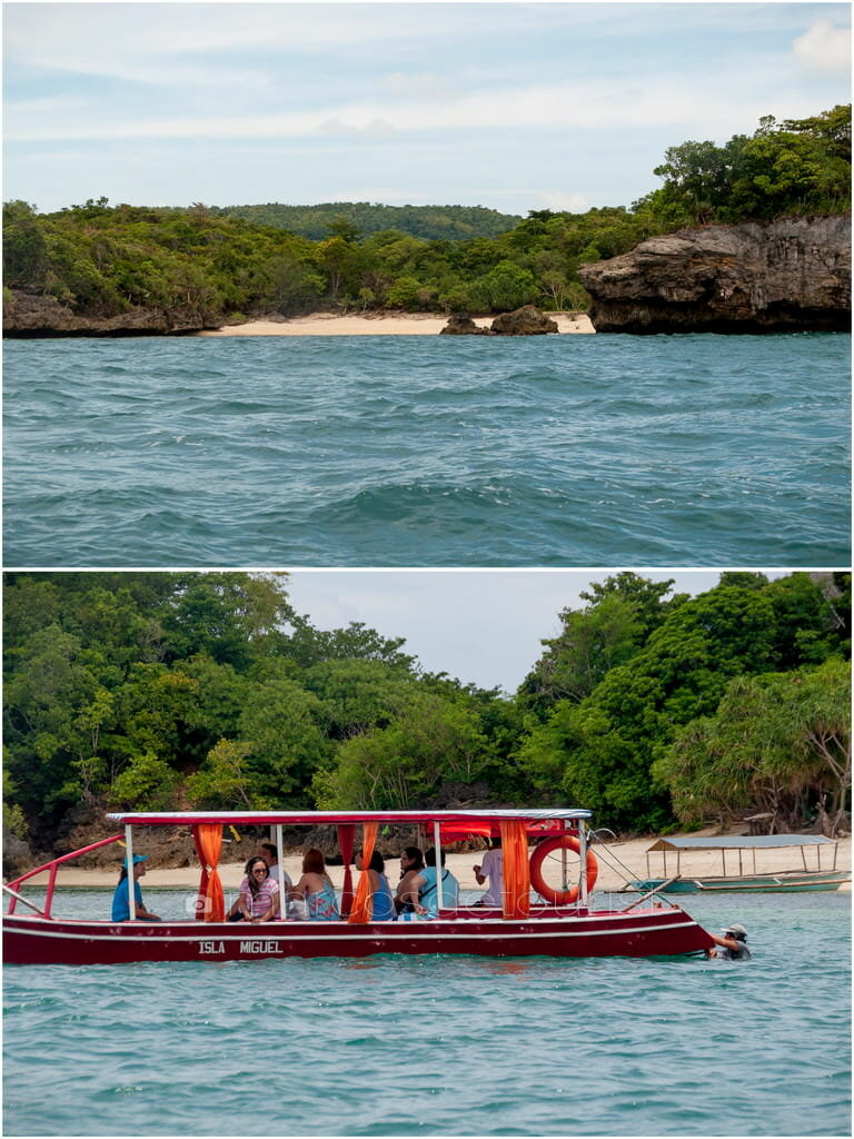 White sand beaches and rocky coasts of Brgy. San Roque in Guimaras.