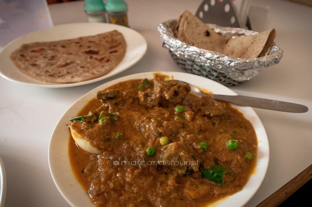 Mutton Masala at Indian Coffee House, Gwalior Railway Station, G