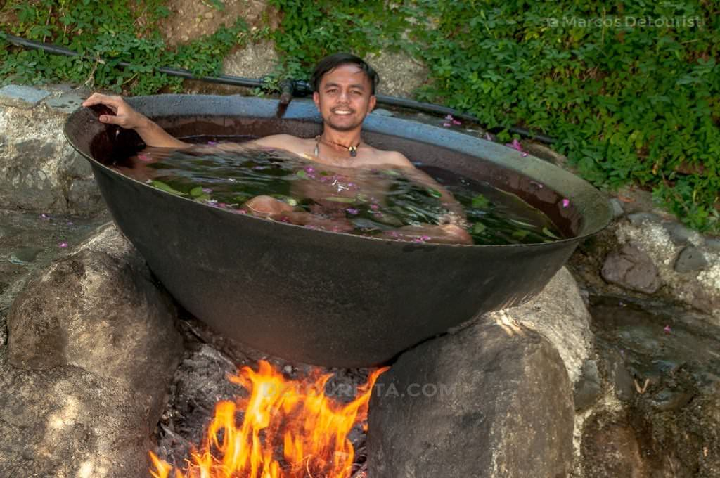 Kawa Hot Bath in Tibiao, Antique.