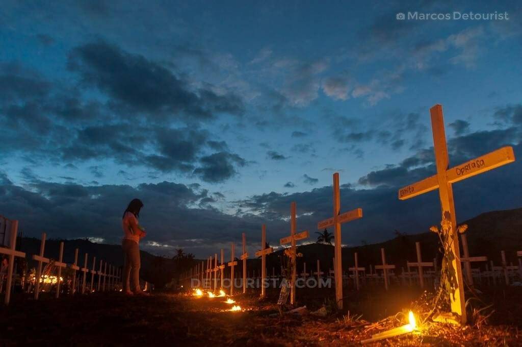 Mass Grave in Tacloban City, Leyte, Philippines