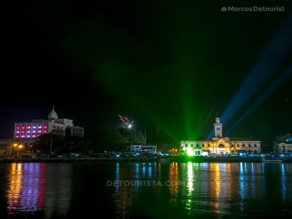 New Year Countdown Fireworks at Iloilo River, Iloilo City, Phili