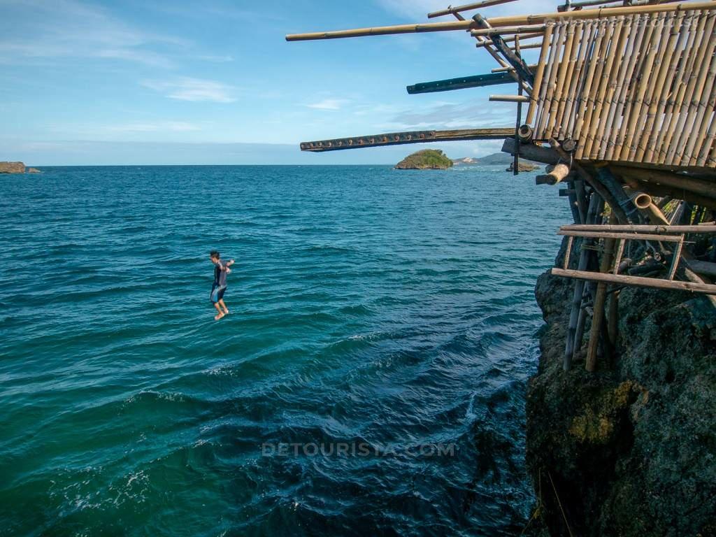 Cliff Diving at Magic Island, Malay, Aklan, Philippines
