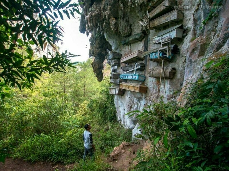 Hanging Coffins, Echo Valley, Sagada, Mountain Province, Philipp