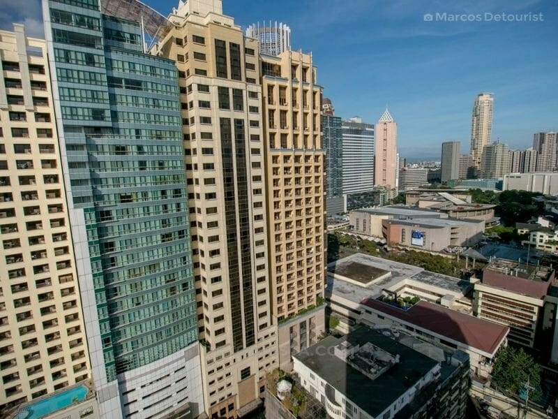 Makati skyline view from Four Bedroom (Alcoves 6) at Alcoves Apa