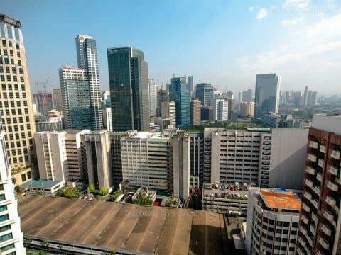 Makati skyline view from Studio (Alcoves2) room at Alcoves Apart