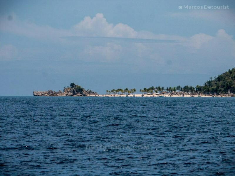 Approaching Gabugaw Gamay Island - Boat ride to Gigantes Islands, Carles, Iloilo, Philippines