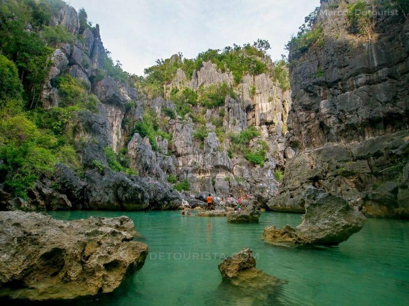 Tangke Salt Water Lagoon, Isla Gigantes Sur Island, Carles, Iloilo, Philippines