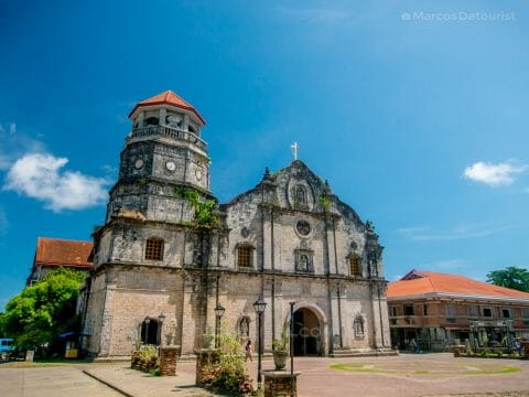Front view of Panay Church, Panay, Capiz, Philippines