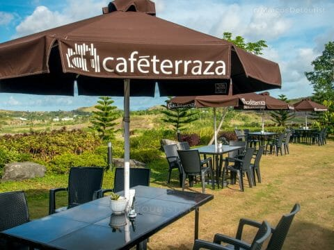 Outdoor seating at Cafe Terraza, Roxas City, Capiz, Philippines