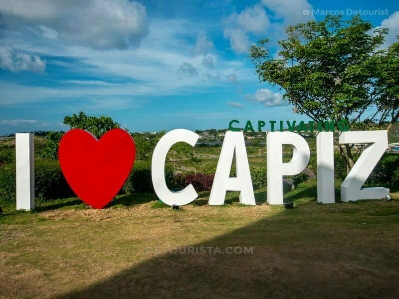 I Love Capiz sign at Cafe Terraza, Roxas City, Capiz, Philippines