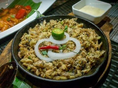 Bangus (Milkfish) Sisig at Cafe Terraza, Roxas City, Capiz, Philippines