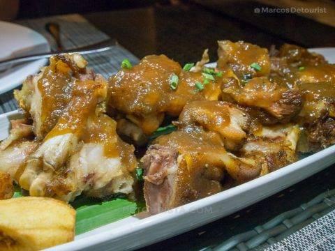 Crispy Pata at Cafe Terraza, Roxas City, Capiz, Philippines
