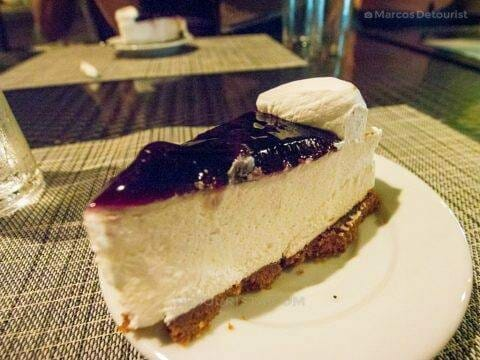 Blueberry Cheesecake at Cafe Terraza, Roxas City, Capiz, Philippines