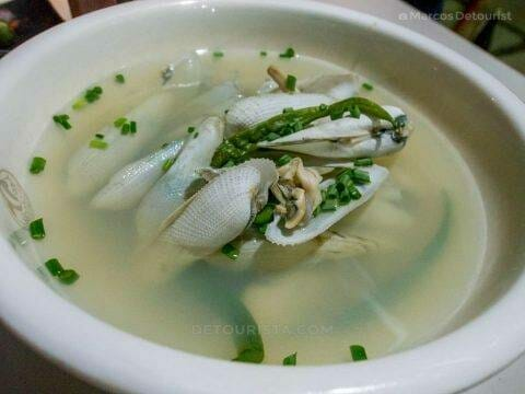 Diwal soup - Dinner at Alma's Seafood Restaurant, Roxas City, Capiz, Philippines