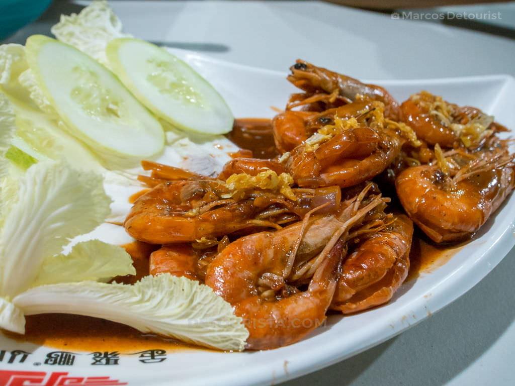 Shrimp - Dinner at Alma's Seafood Restaurant, Roxas City, Capiz, Philippines