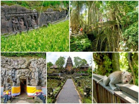 Bali — Ubud, Goa Gajah Elephant Cave, Monkey Forest