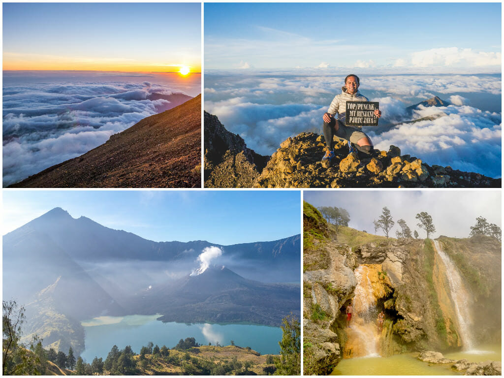 Lombok (Part 2of2) — Mount Rinjani Summit Trek Day 2&3, Crater Lake, Hot Springs, Sembalun