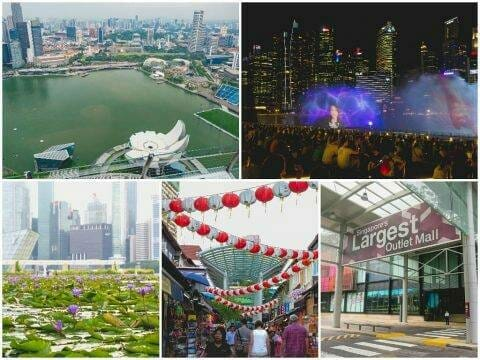 Singapore — Marina Bay, Skypark, Chinatown, Outlet Mall Shopping