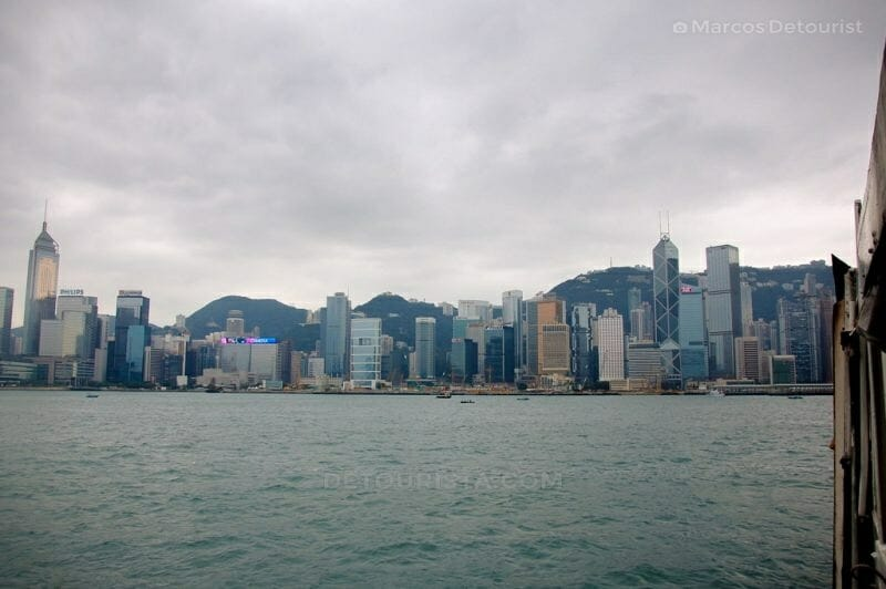Star Ferry ride to Central from Tsim Sha Tsui in Hong kong