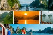 Ha Long Bay, Vietnam: Blue and Golden Skies on the Overnight Cruise