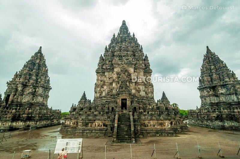 Prambanan Temple central spires