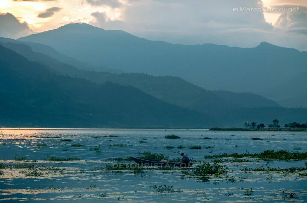 Pokhara Lakeside at Sunset