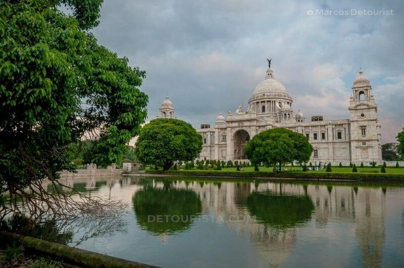 Victoria Memorial Hall along Cathedral Road in Kolkata, India