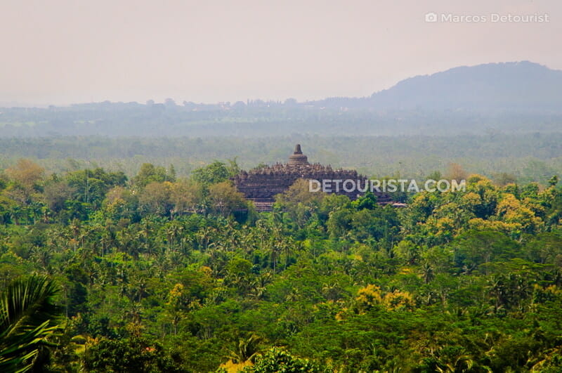 Borobudur Temple Complex in Yogyakarta, Java, Indonesia