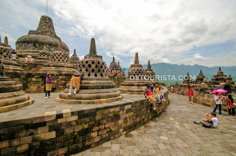 Borobudur Temple pinnacle level