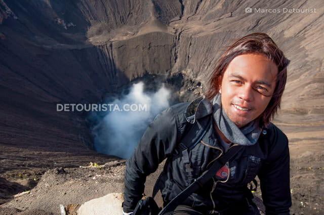 Marcos at Mount Bromo