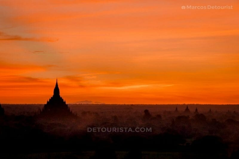 Sunrise at Shwe Sandaw Pagoda, Bagan, Myanmar