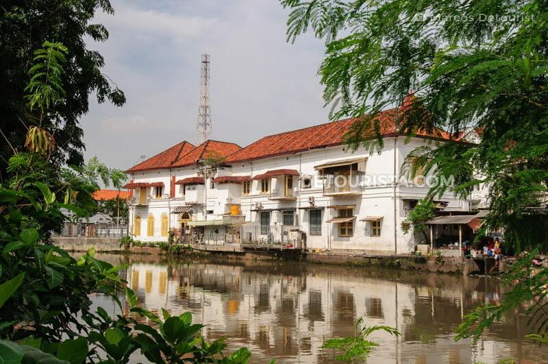 Surabaya Dutch-colonial building at the riverfront