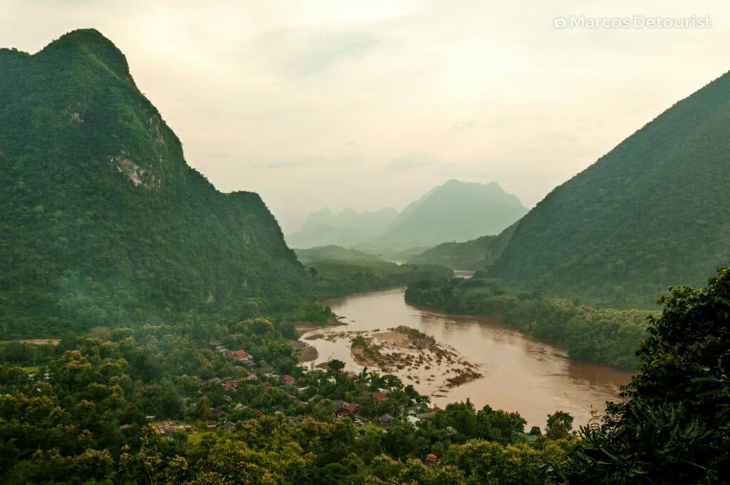 Overlooking Muang Ngoi Neua