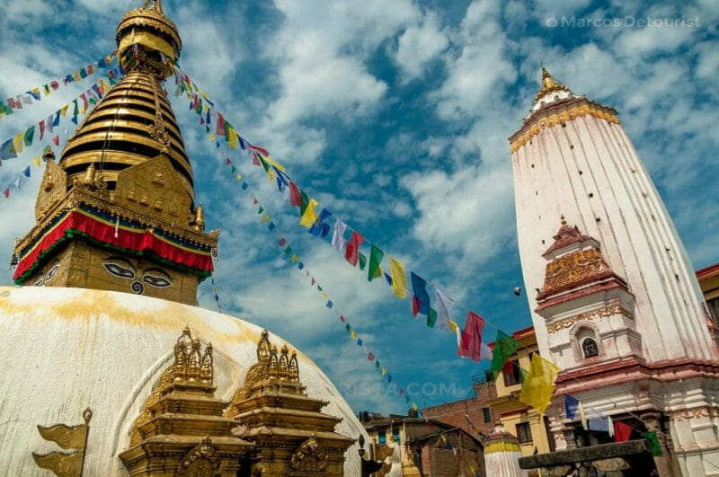 Swayambhunath Temple in Kathmandu, Nepal.