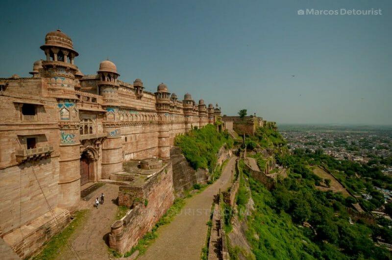 Gwalior Fortress in Gwalior, Madhya Pradesh, India