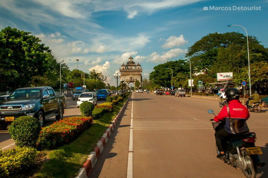 Patuxai Victory Monument in Vientiane, Laos